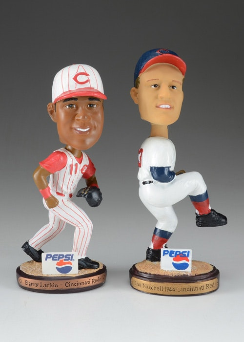 Larkin Nuxhall Anderson And Bench Bobbleheads Ebth