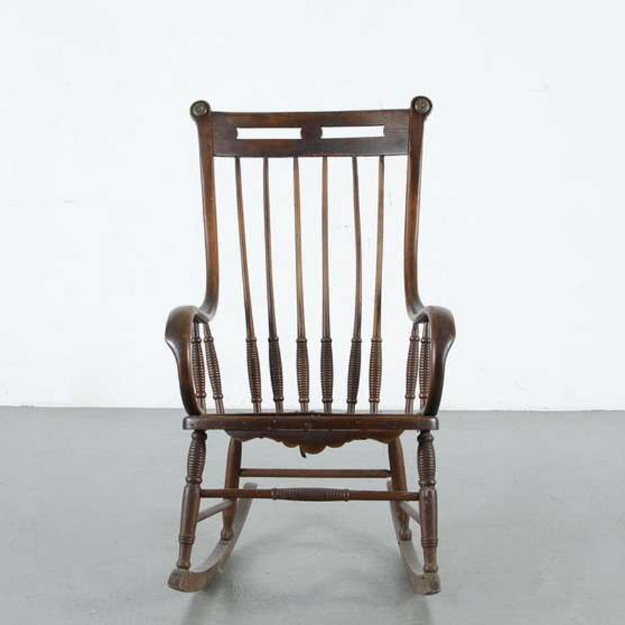 Antique Spindle Back Rocking Chair ... - Antique Spindle Back Rocking Chair : EBTH