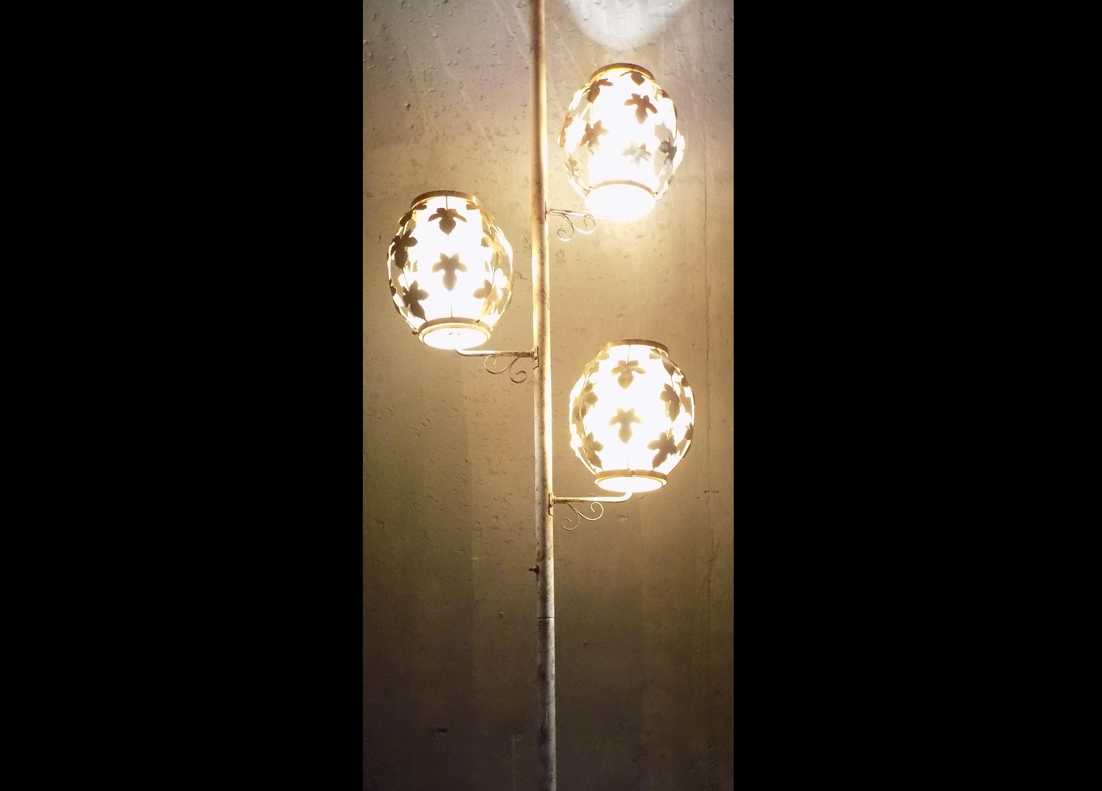 Mid Century Tension Pole Lamp ...