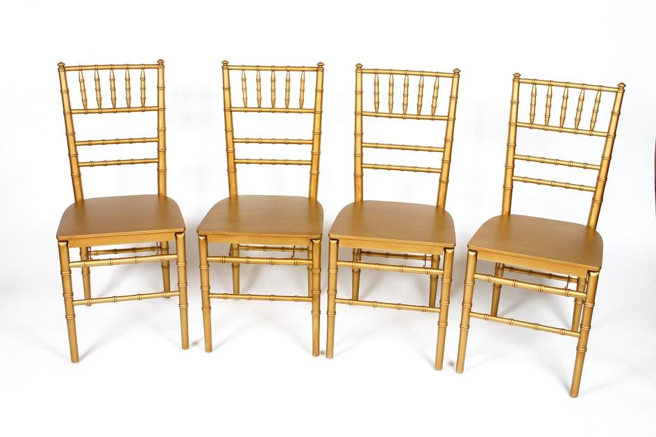 Ballard Designs Furniture set of four ballard designs folding ballroom chairs : ebth