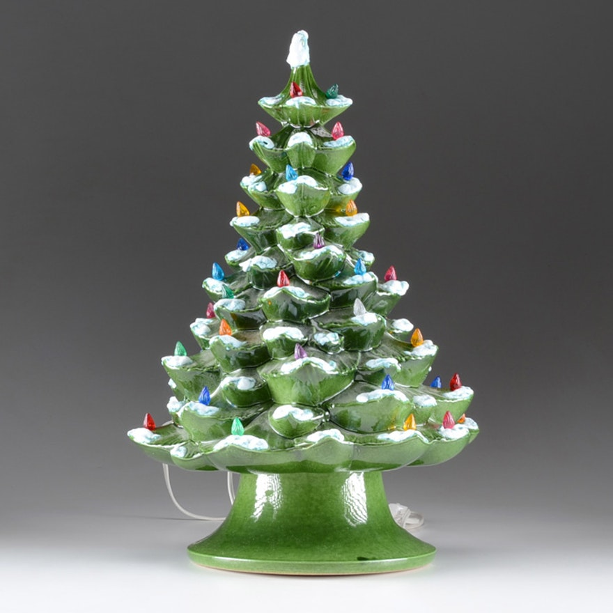 large vintage light up ceramic christmas tree - Large Ceramic Christmas Tree