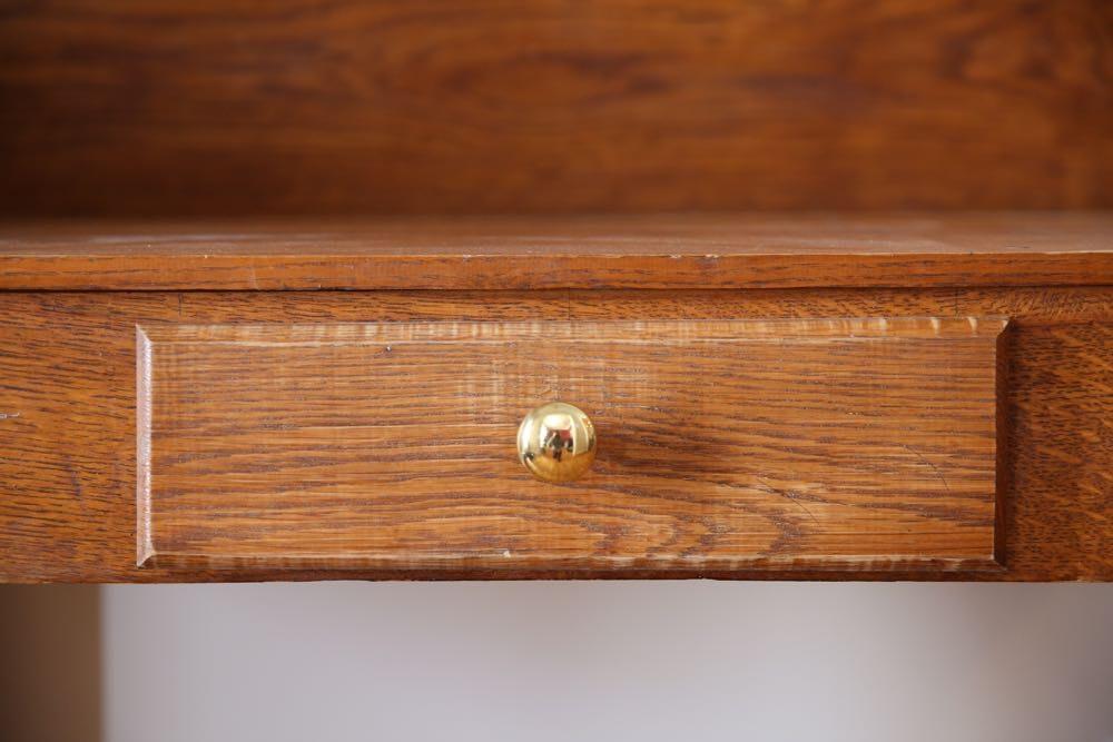 Country Style Oak Desk Ebth