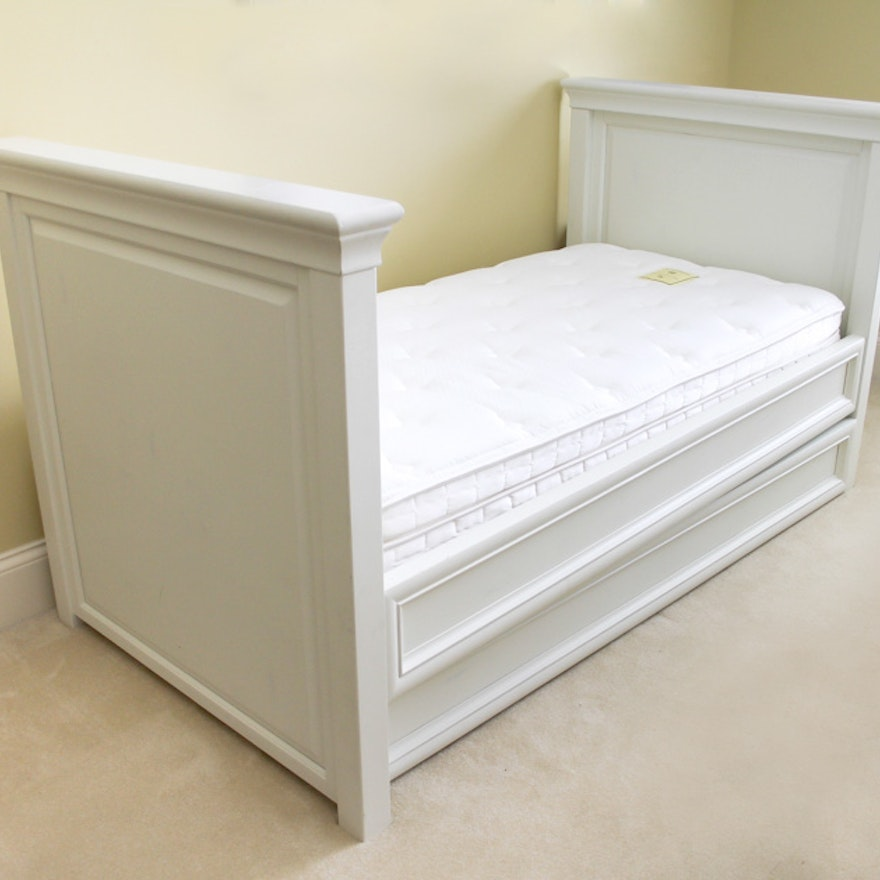 White Pottery Barn Daybed with Trundle : EBTH