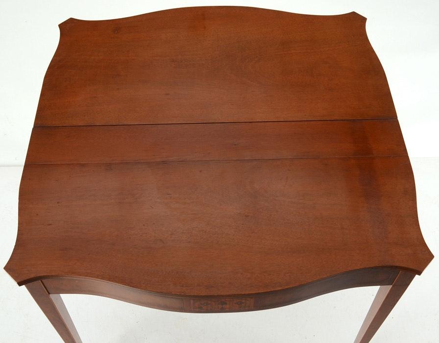 Quot Extensole Quot Hepplewhite Style Flip Top Extension Table Ebth