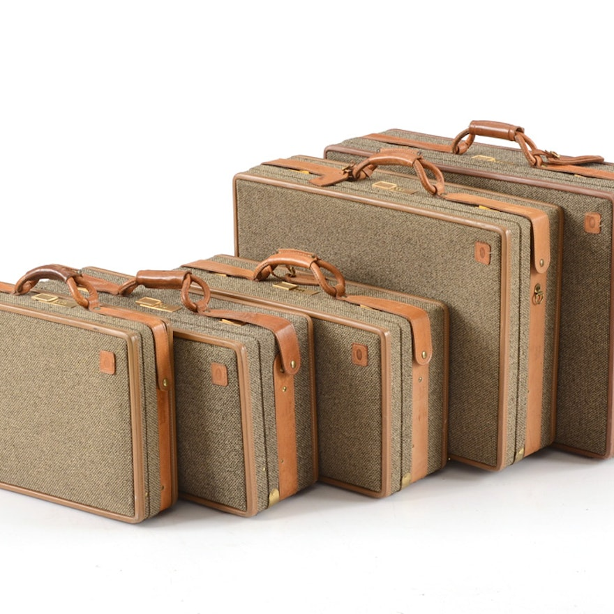 Collection Of Vintage Hartmann Luggage And A Briefcase