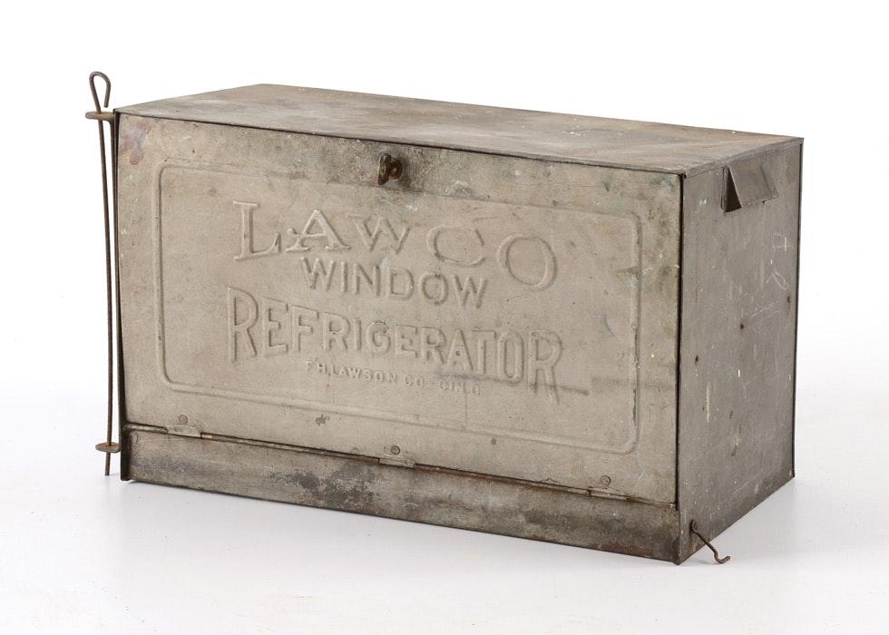 LawCo Vintage Window Refrigerator