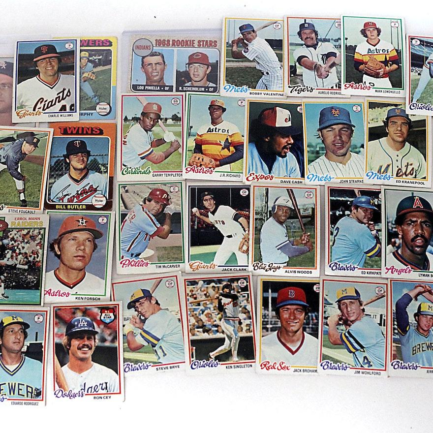 1970s Topps Baseball Trading Cards