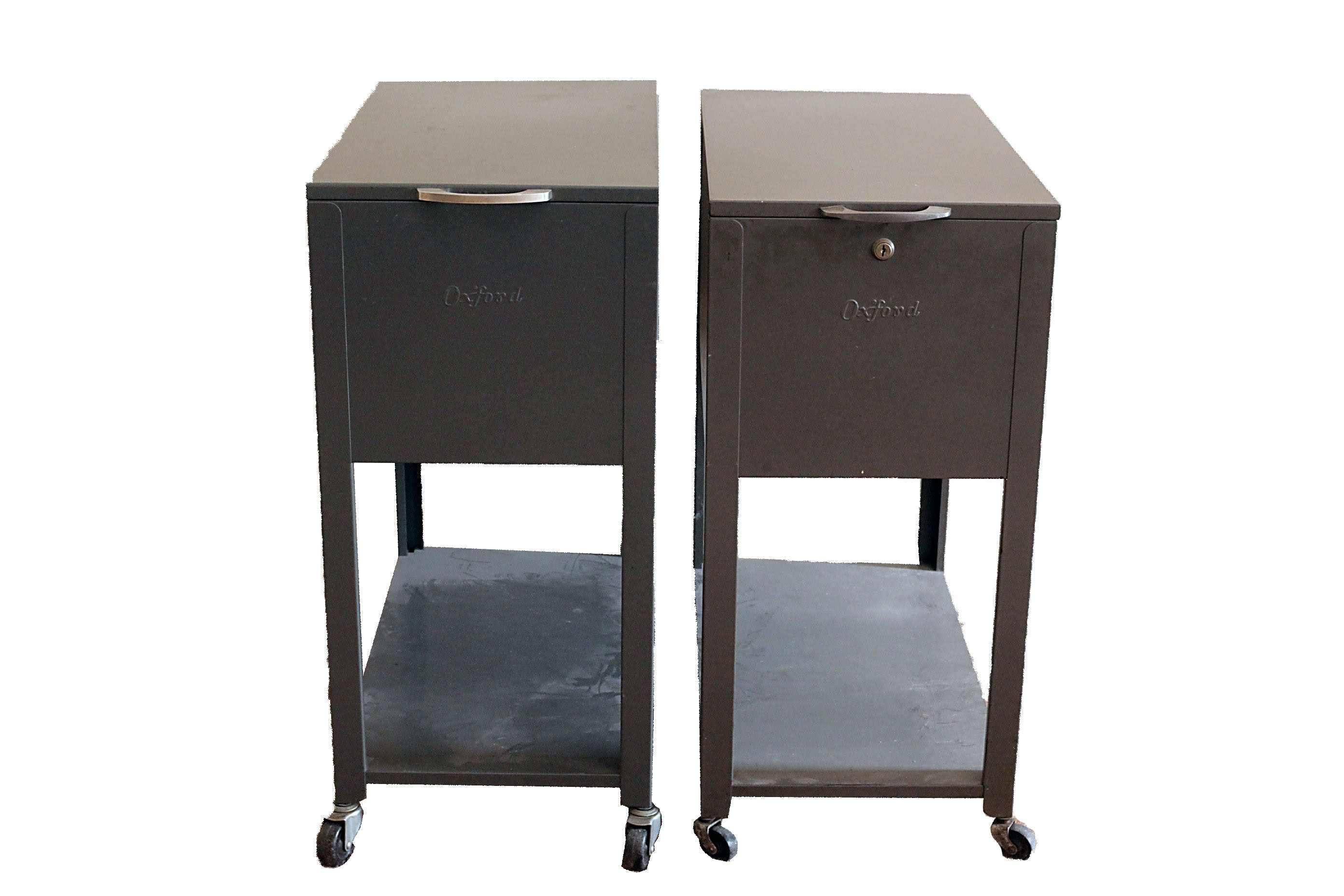 Twin Rolling Oxford Filing Cabinets ...
