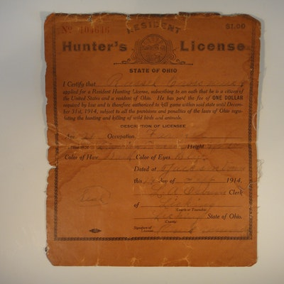 All categories in minster ohio personal property sale for Fishing license ohio
