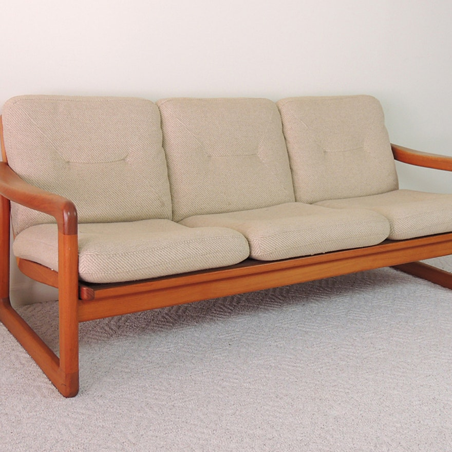 Mid Century Modern Danish Teak Sofa