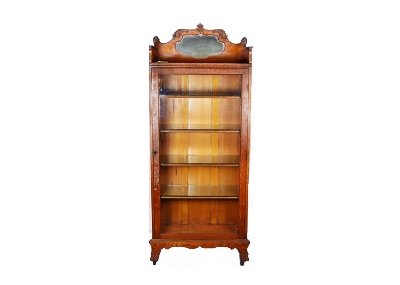 Beautiful Circa 1900 Oak Medical Cabinet By Robert Mitchell Furniture Co.