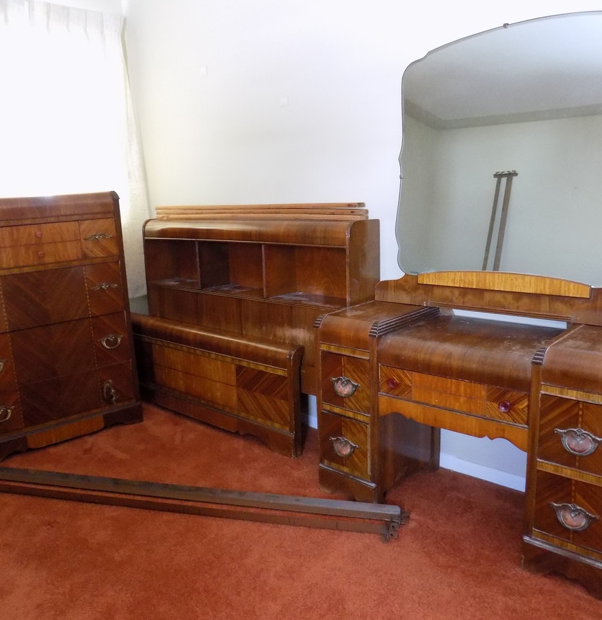 vintage waterfall bedroom set project furniture ebth