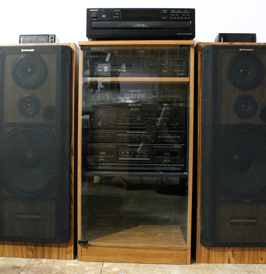 Pioneer Stereo System With Cabinet EBTH