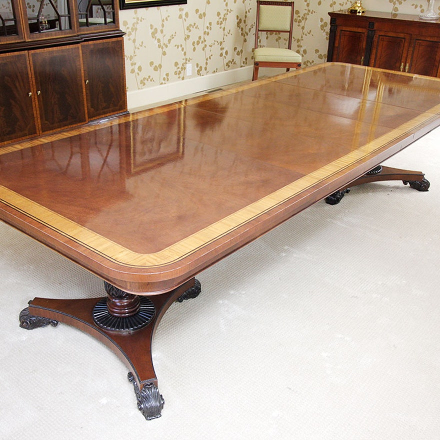 Baker Furniture English Regency Style Mahogany Dining Room Table ...