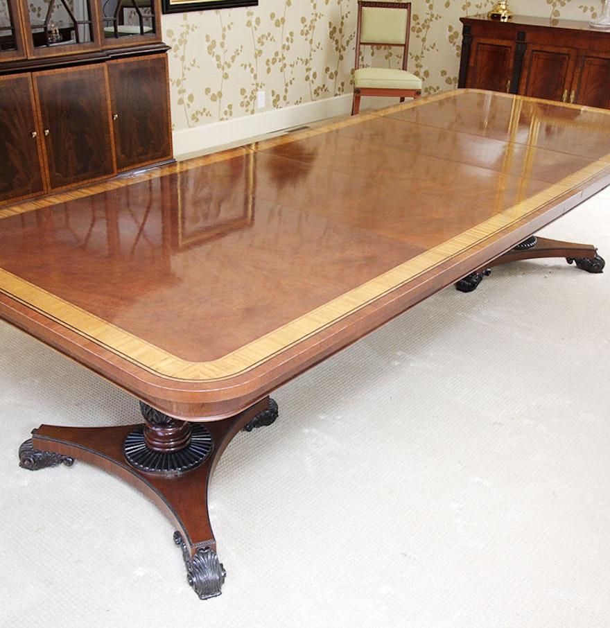 Baker Furniture English Regency Style Mahogany Dining Room Table ...