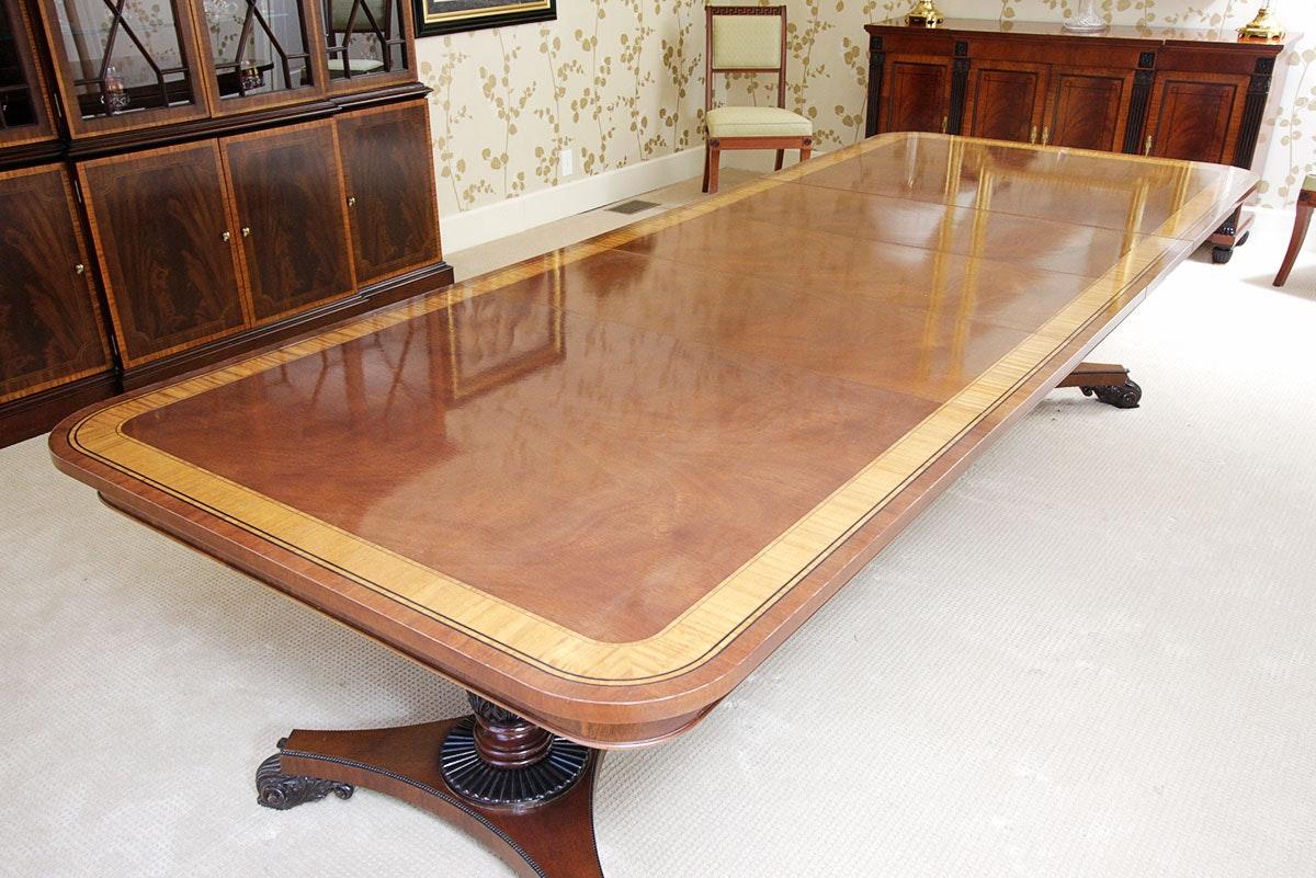 Baker Furniture English Regency Style Mahogany Dining Room ...