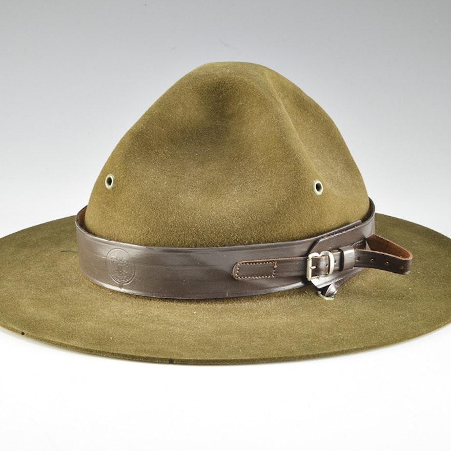 2dc92bdbc0c56 Vintage Stetson BSA Scout Master Hat