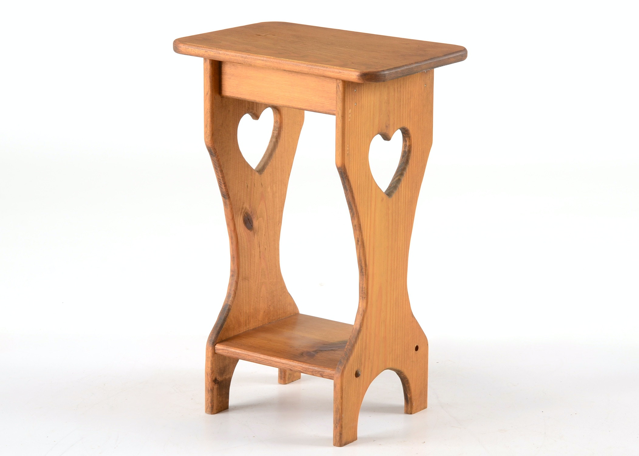 Country Style Pine End Table ...