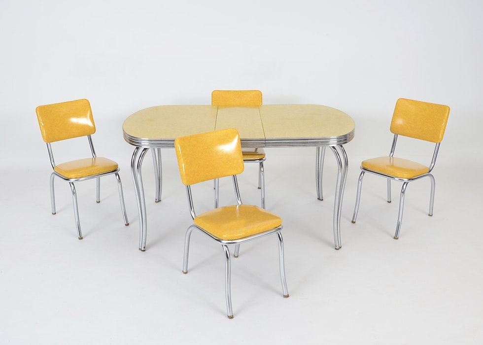1950s Chrome Dinette Set