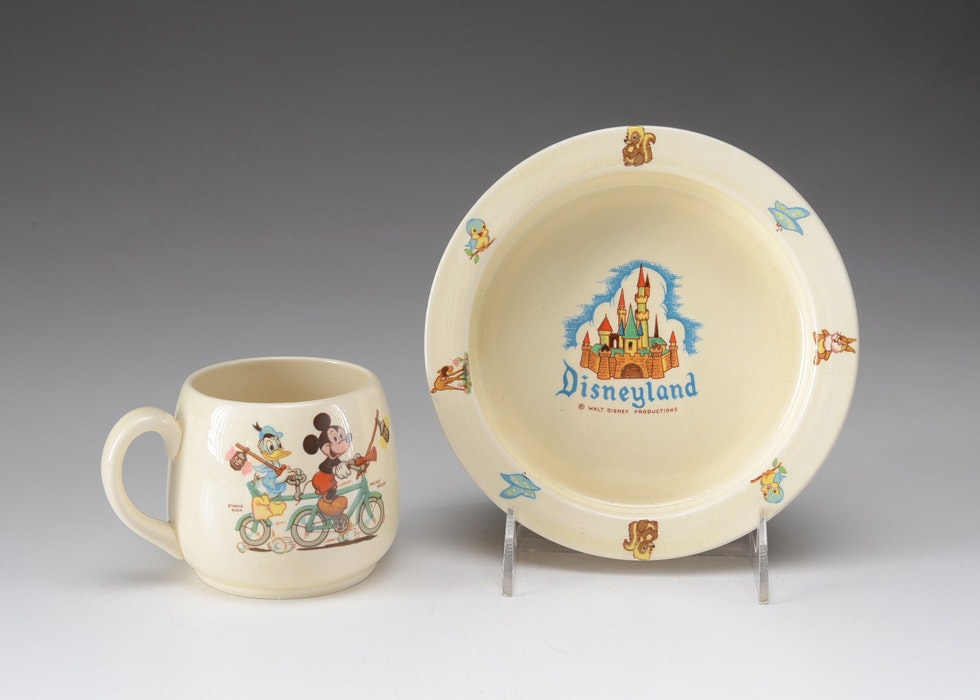 Beswick for Disneyland Souvenir Mug and Baby Bowl ... & Beswick for Disneyland Souvenir Mug and Baby Bowl : EBTH