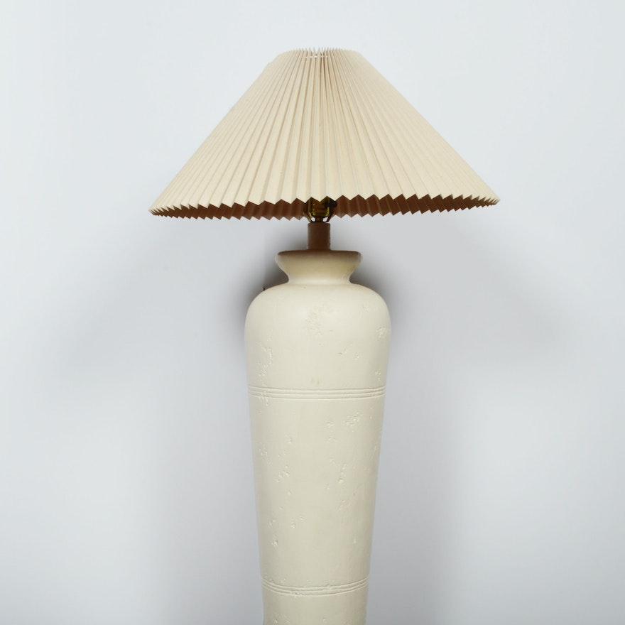 White Ceramic Floor Lamp ... - White Ceramic Floor Lamp : EBTH