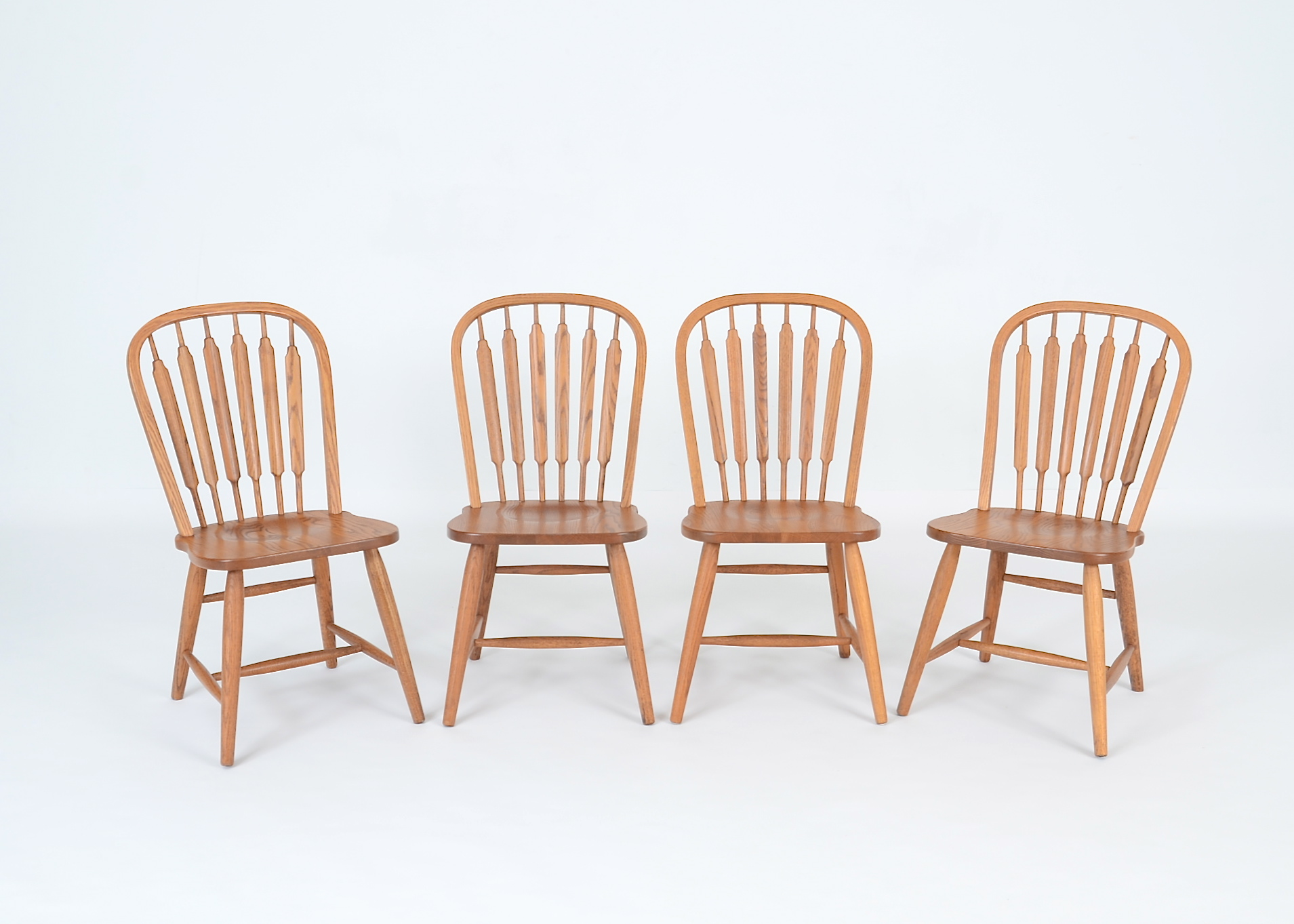 Four Richardson Brothers Signed Oak Chairs : EBTH