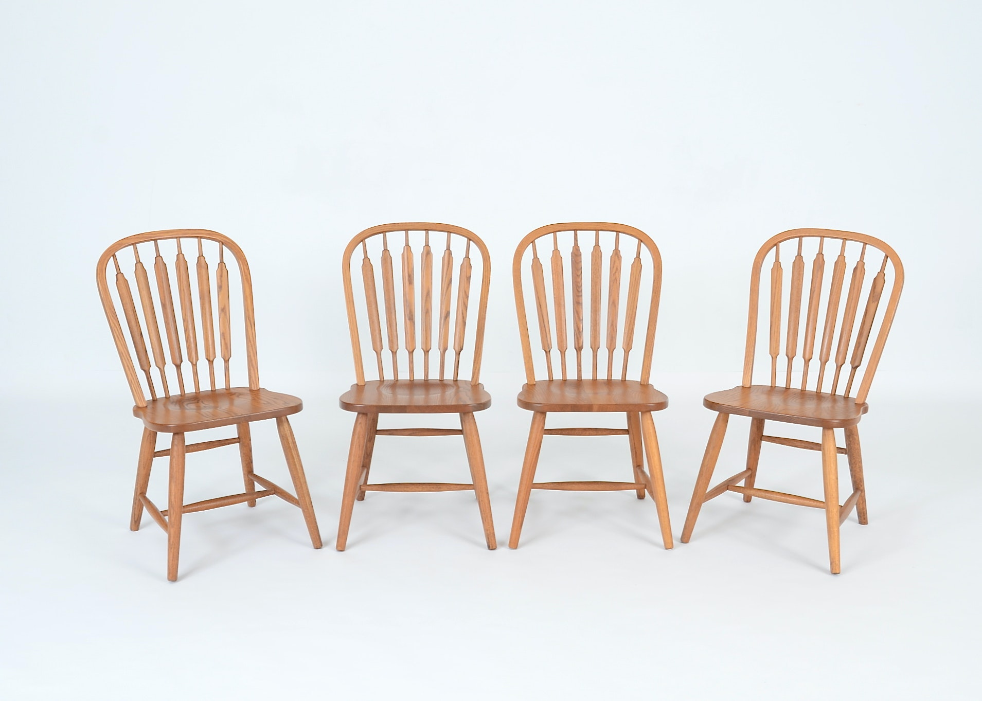 Delightful Four Richardson Brothers Signed Oak Chairs ...