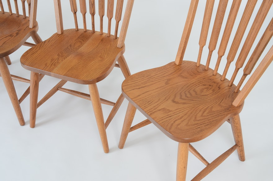 Four Richardson Brothers Signed Oak Chairs Ebth