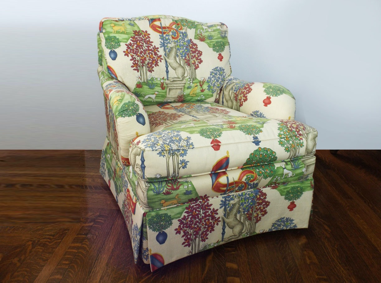 Sherrill Club Chair in Fantastic Patterned Upholstery