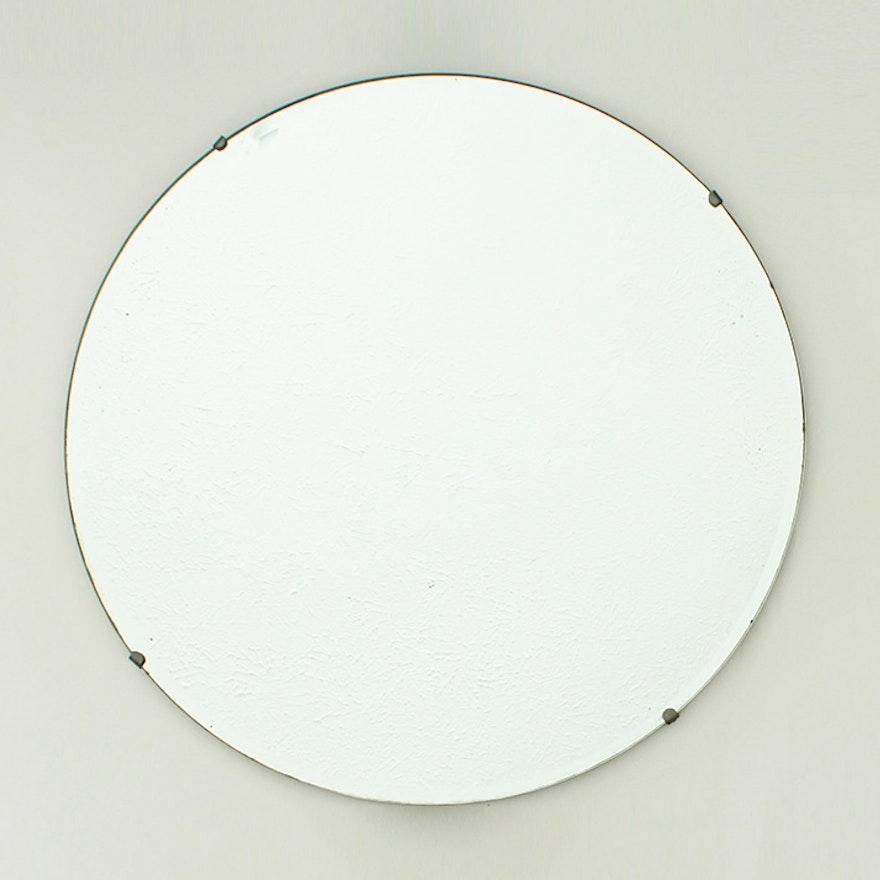 Vintage Frameless Wall Mirror Ebth