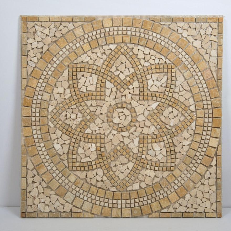 Marmaris Indooroutdoor Square Floor Tile Medallion Ebth