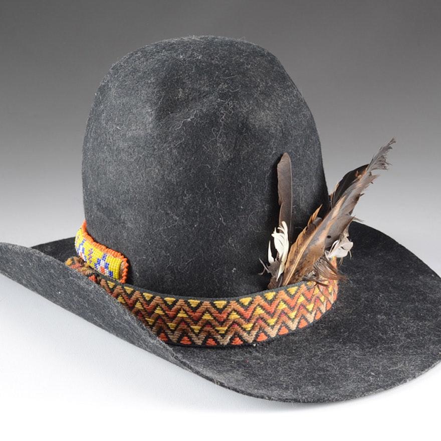 e3ff27f8121 Sheplers Felted Wool Cowboy Hat   EBTH