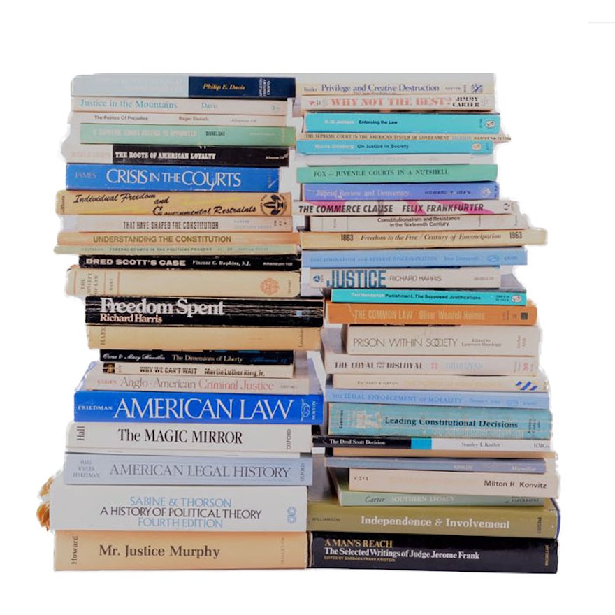 American Law and Criminal Justice Books