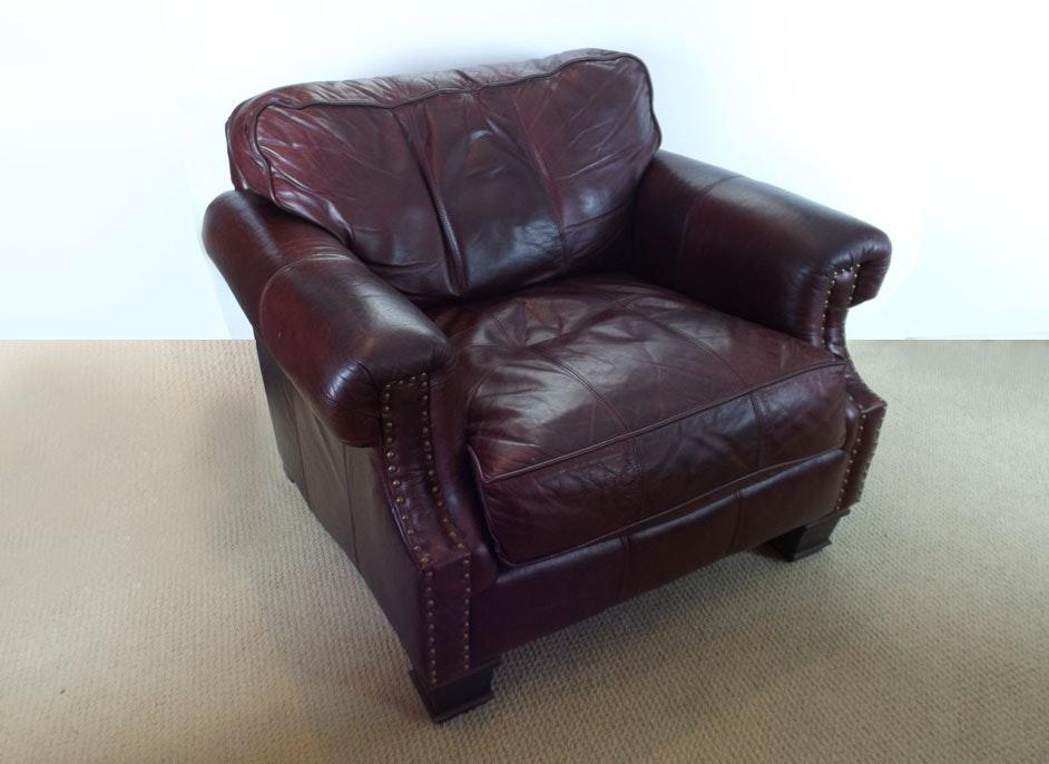 Handsome Bernhardt Leather Club Chair ...
