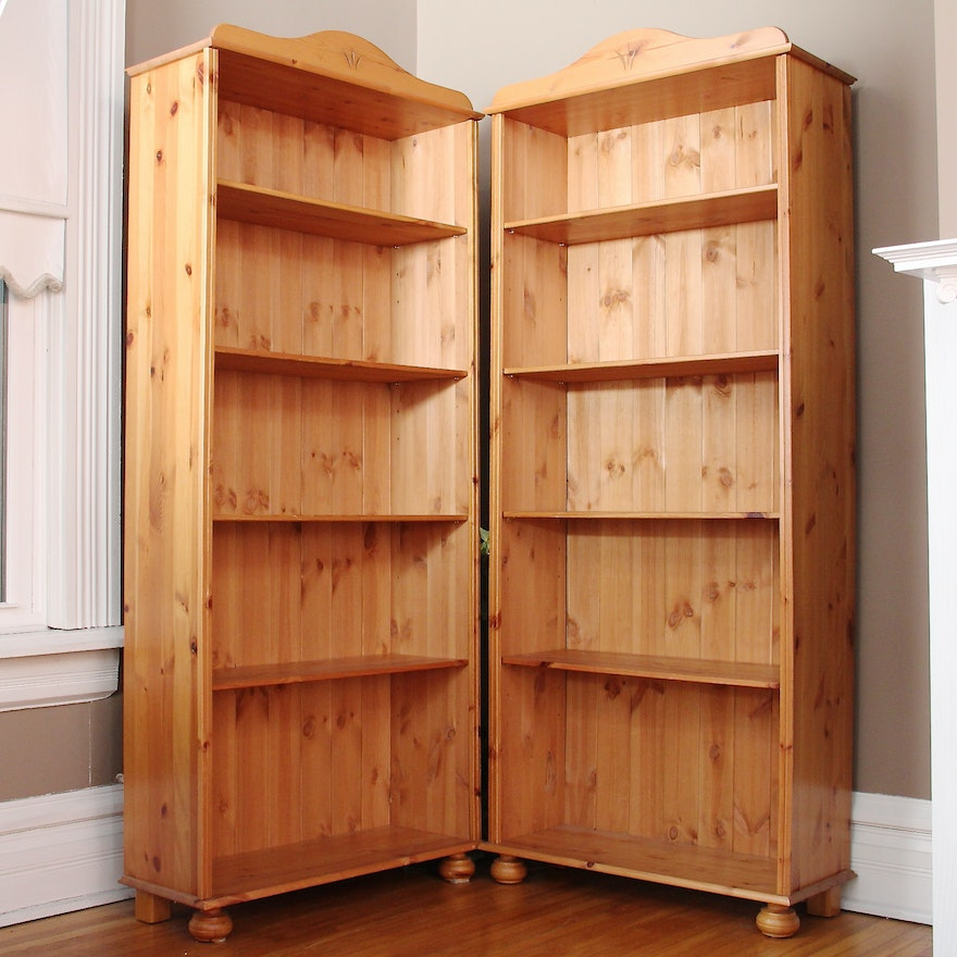 Knotty Pine Kitchen Cabinets For Sale: Knotty Pine Bookcases