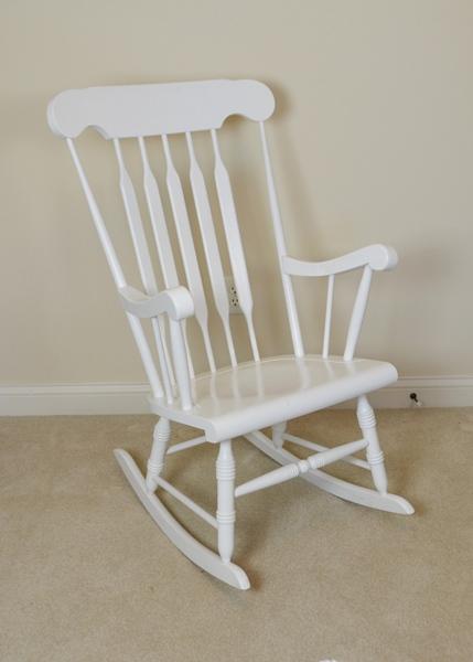 white wooden rocking chair. White Wood Rocking Chair Wooden