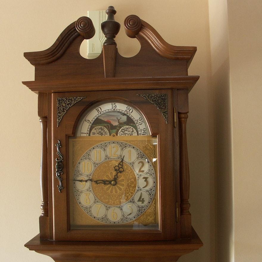 Emperor Black Walnut Grandfather Clock