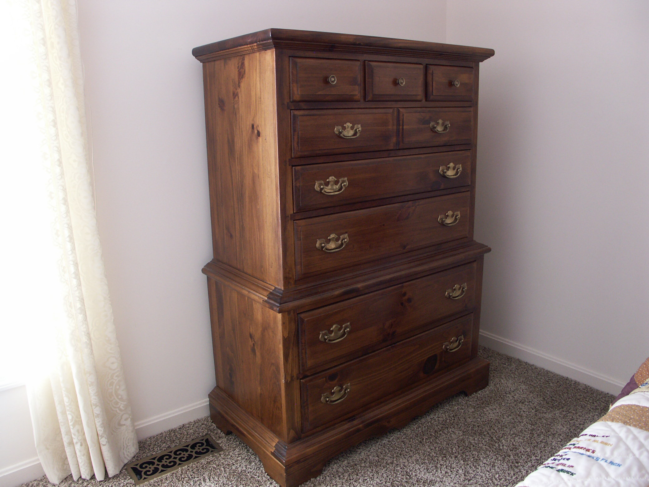 Kling Colonial Furniture Knotty Pine Chest Of Drawers ...