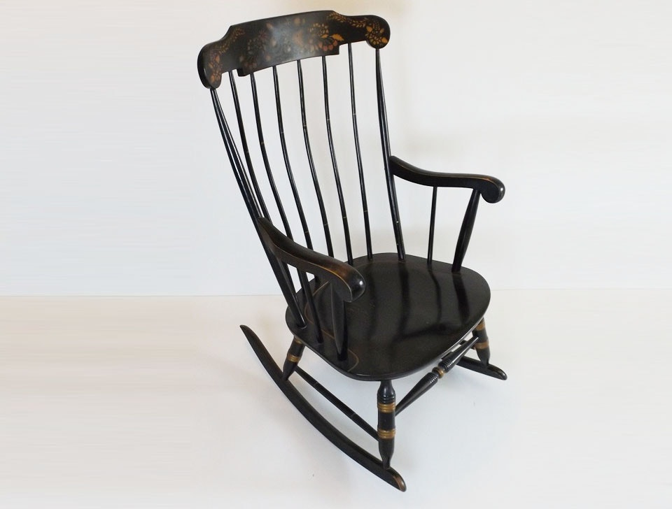 Hitchcock-Style Painted Windsor Rocker