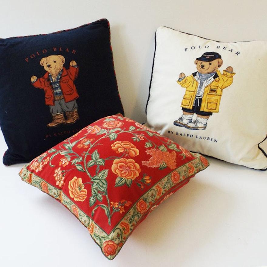Ralph Lauren Goose Down Feather Filled Polo Bear Pillows