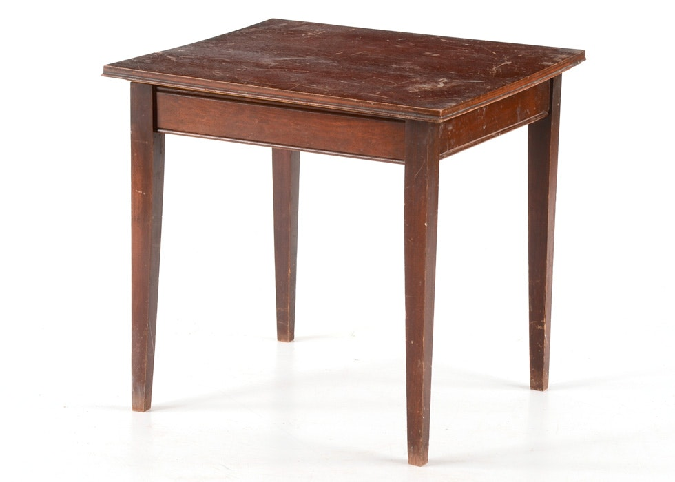Early 20th Century Mahogany Veneer Swivel Top Table ...