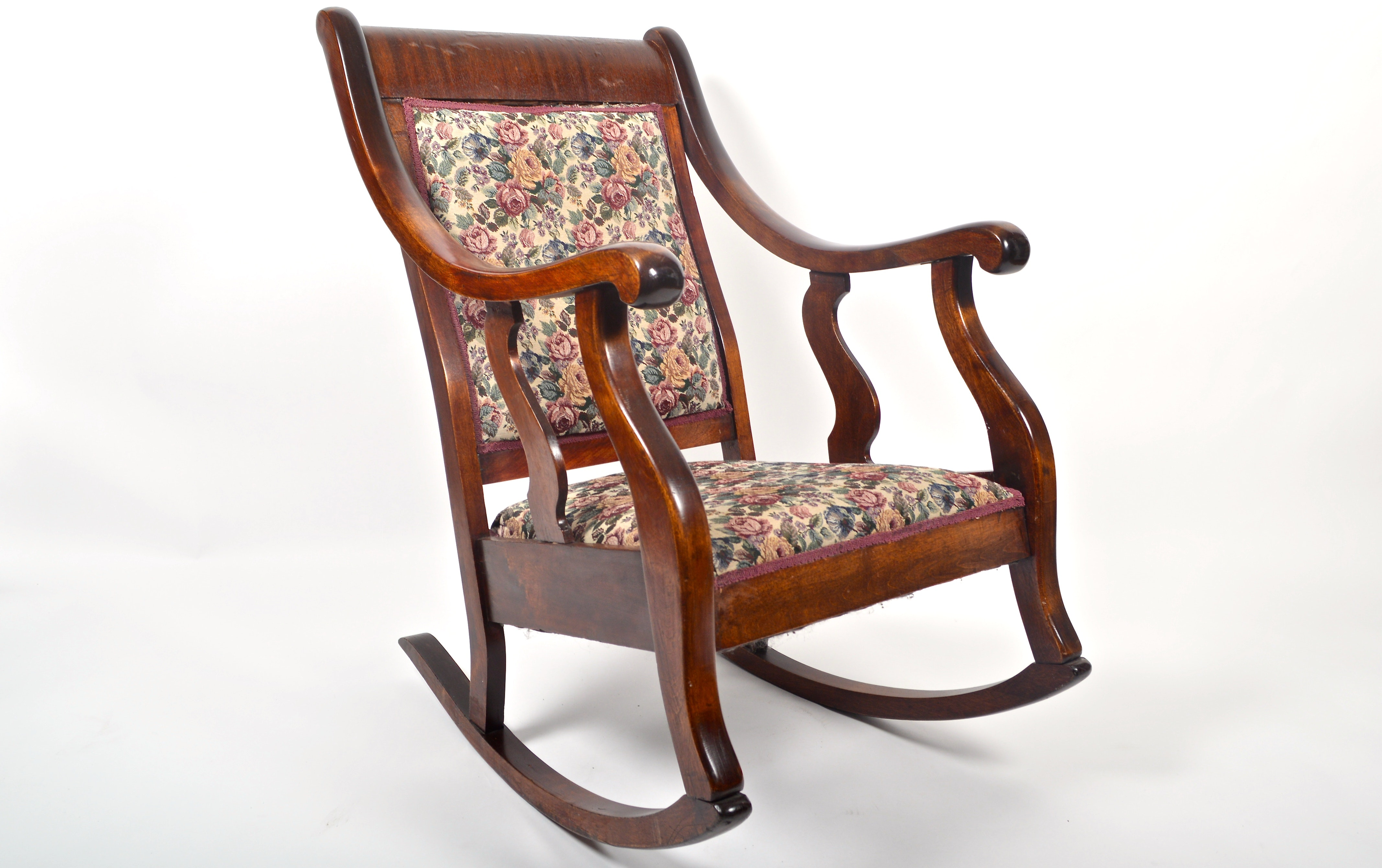 Antique american empire style rocking chair ebth