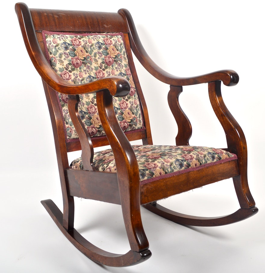 Antique American Empire Style Rocking Chair ... - Antique American Empire Style Rocking Chair : EBTH