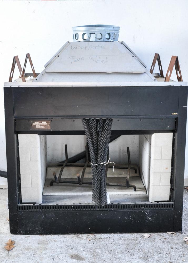 Heatilator Outdoor Two Sided Woodburning Fireplace Ebth