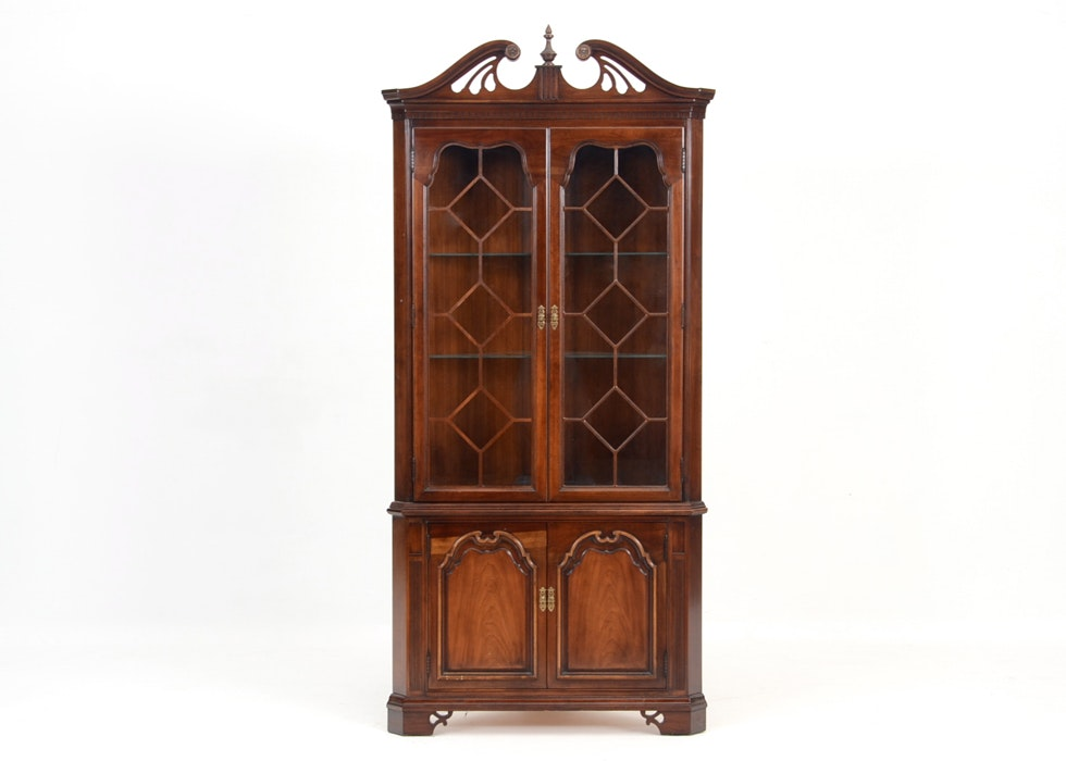 corner china cabinet thomasville corner china hutch cabinet ebth 28660