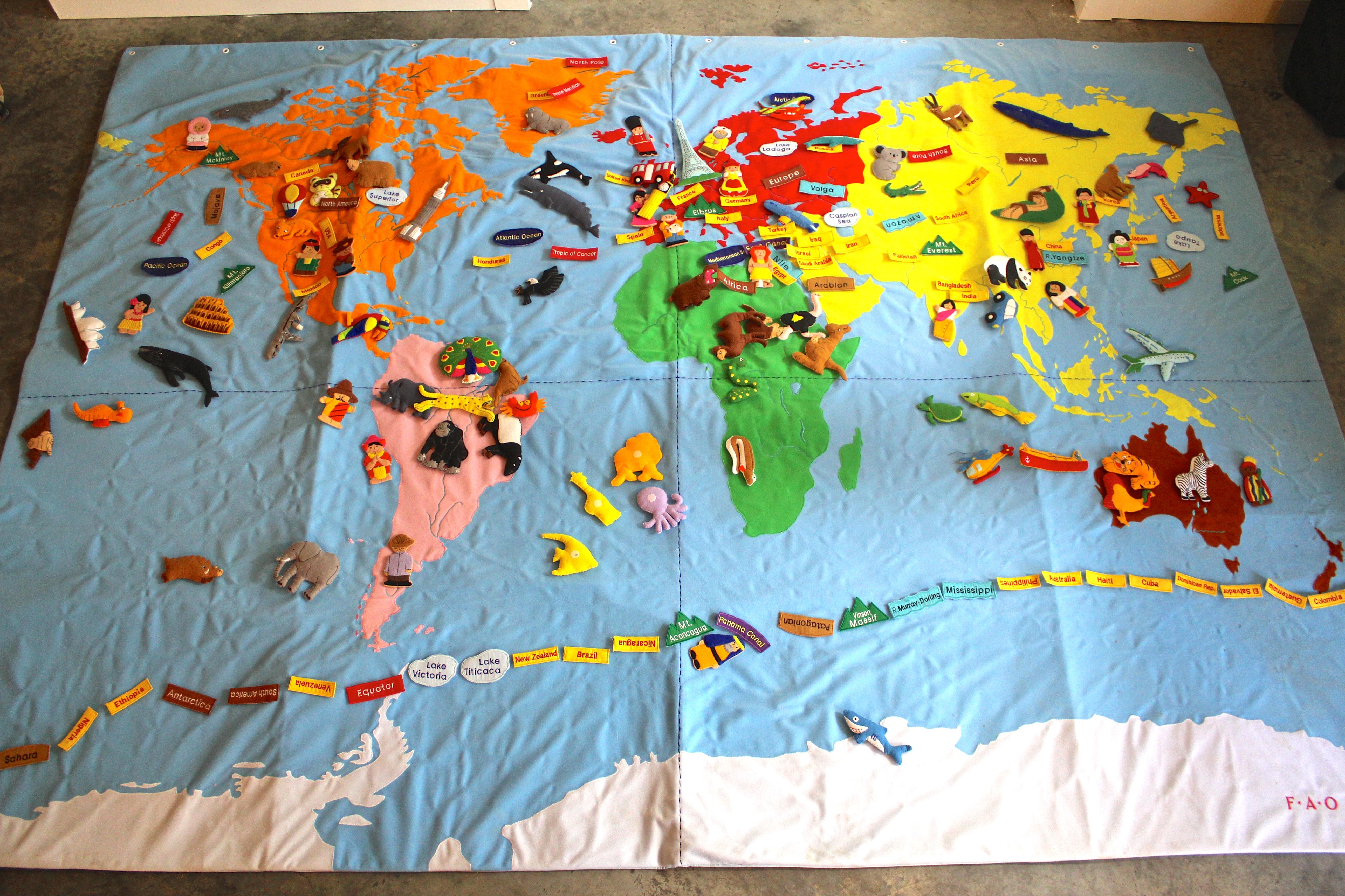FAO Schwarz Gigantic World Map EBTH