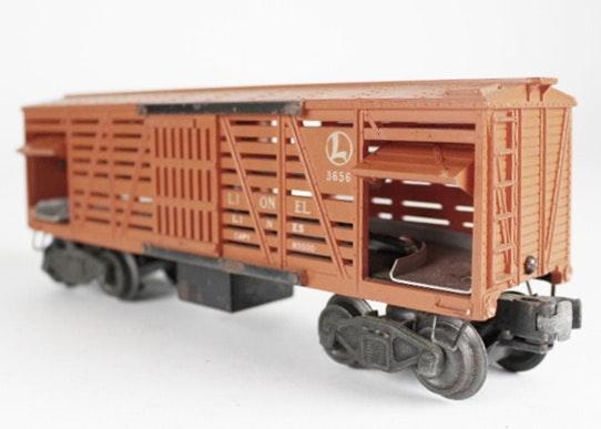 Wiring Diagram Lionel Cattle Car : Lionel post war quot o scale stockyard cattle car w