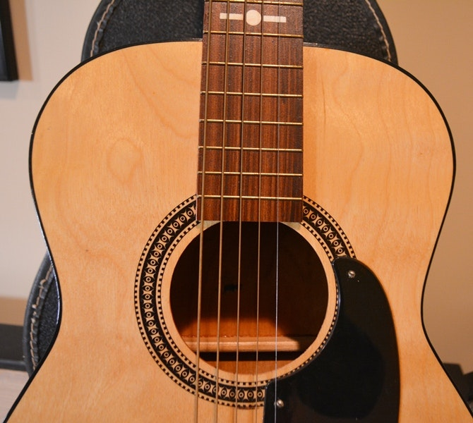 Sears And Roebuck Student Acoustic Guitar And Case With