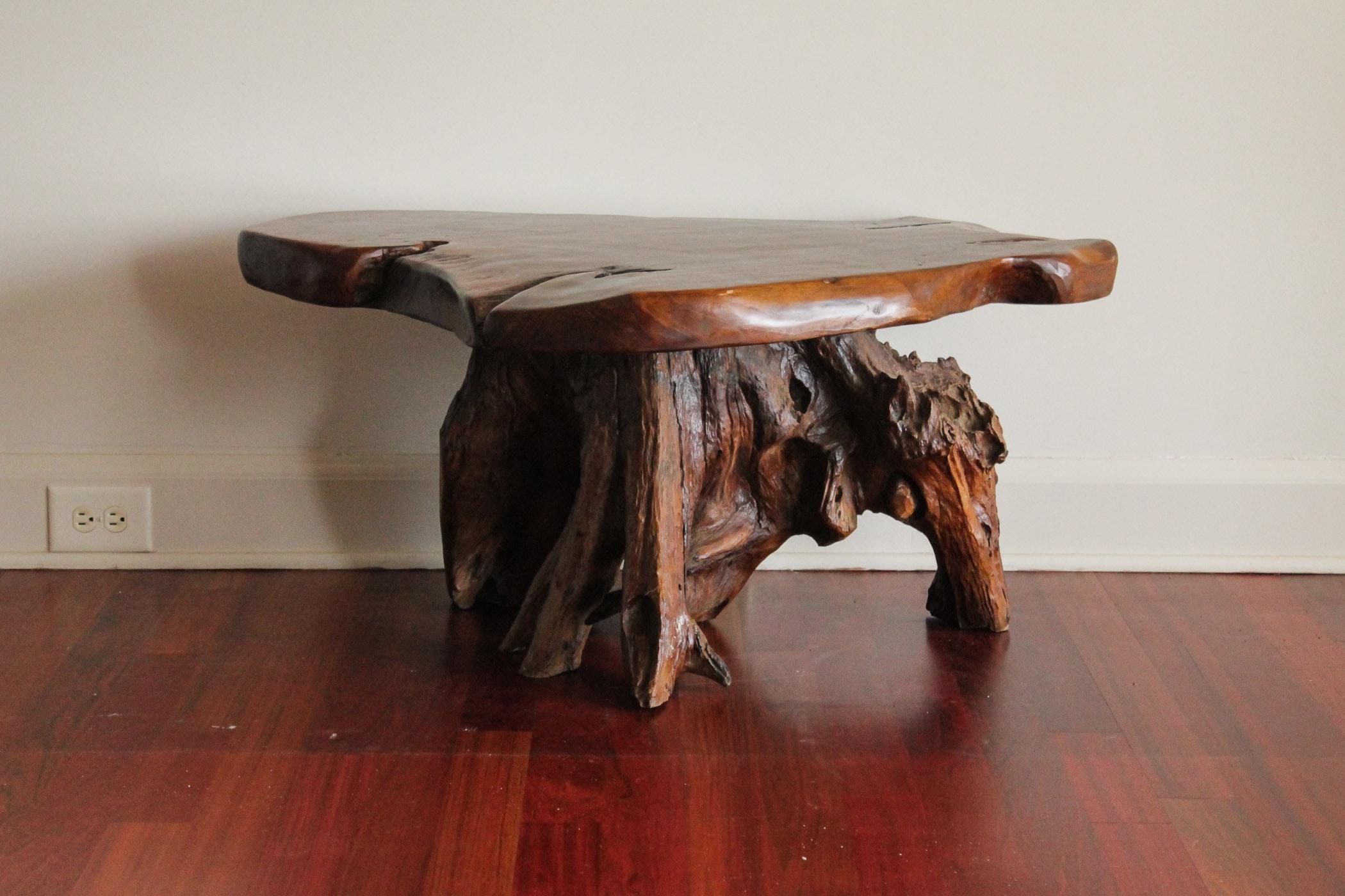 Tree Stump Coffee Table Modern Tree Trunk Coffee Table