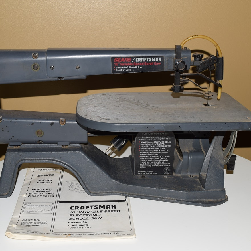 Sears craftsman variable speed electronic scroll saw ebth sears craftsman variable speed electronic scroll saw greentooth Image collections
